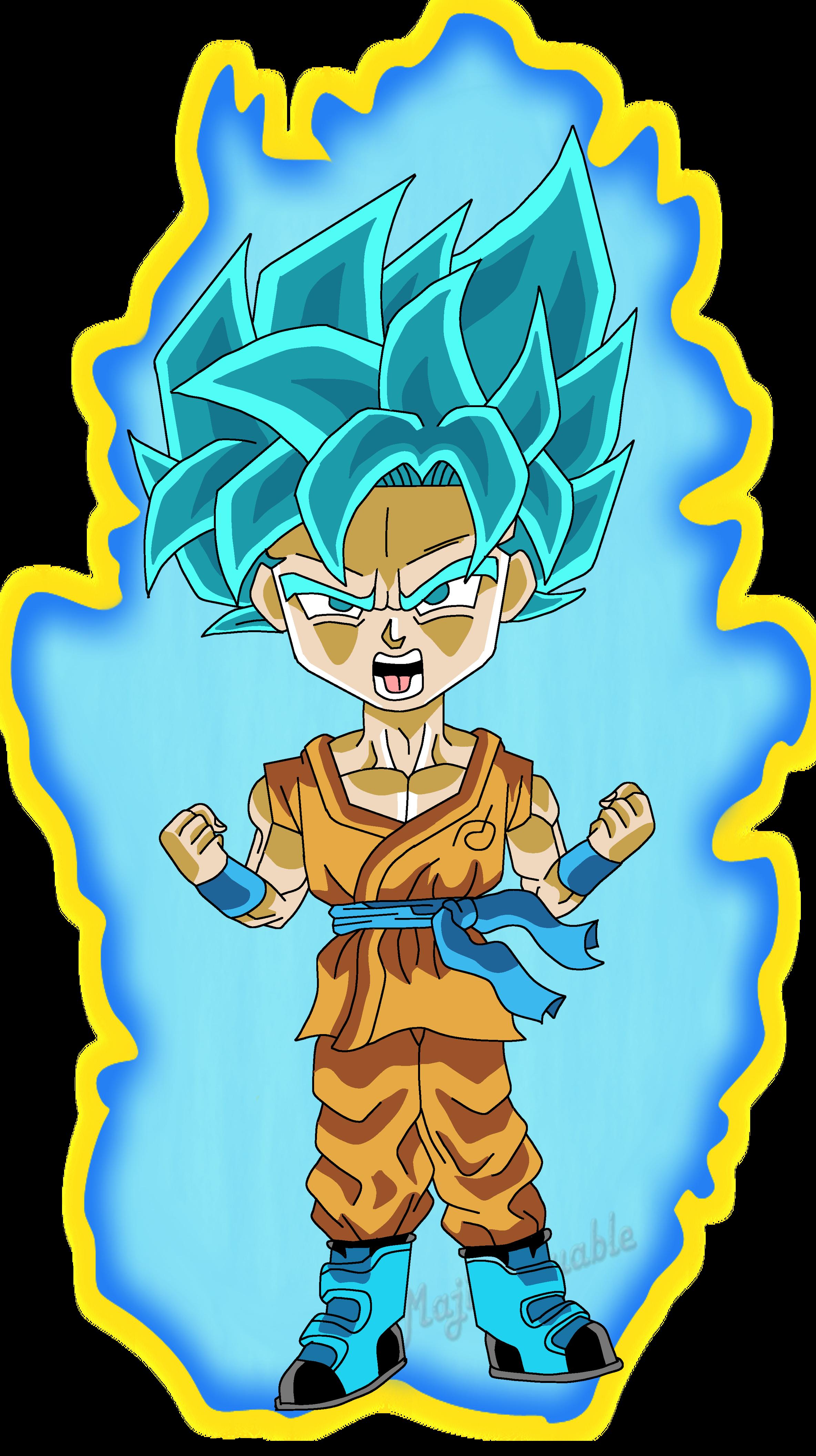Chibi Super Saiyan Blue Goku By Mrjamierox On Deviantart
