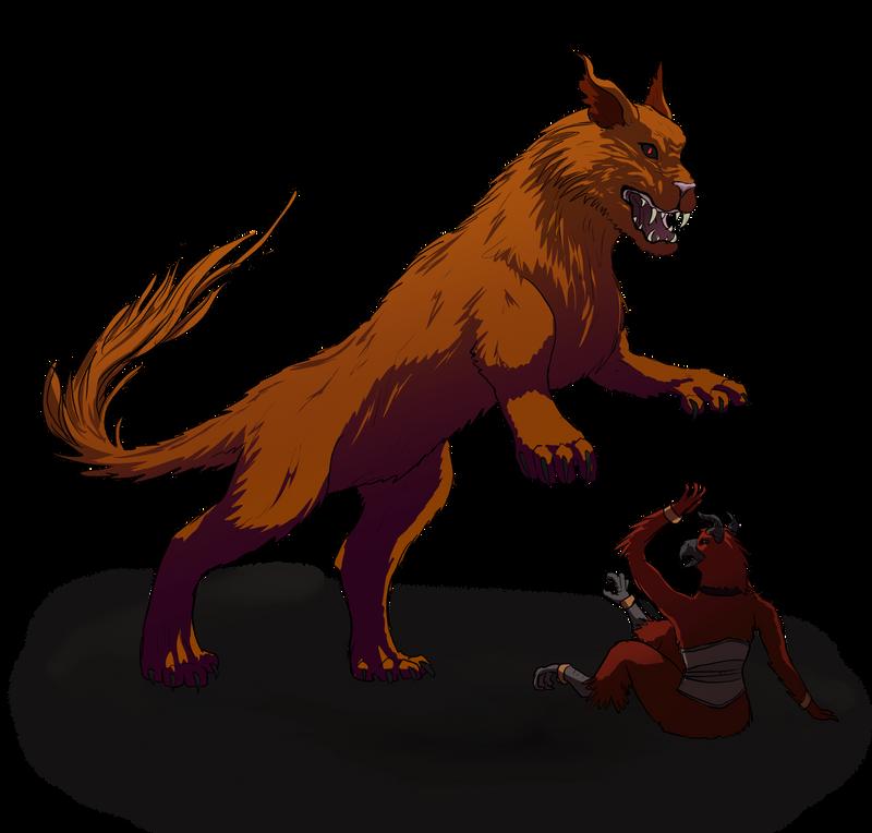 Beast vs Zharca by Aerophoinix