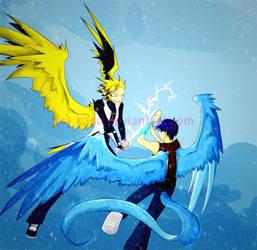 Snow and Lightning by kasu