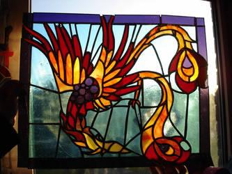 Stained Glass Phoenix by xXxParabolaxXx