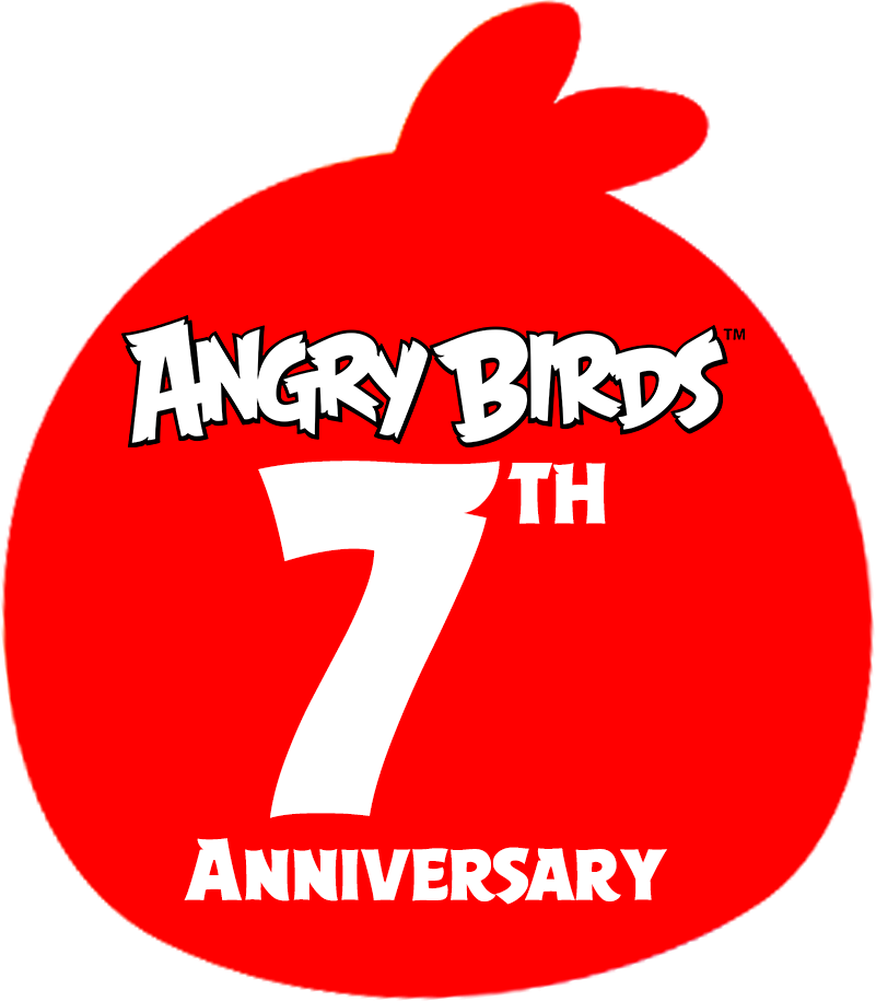 Angry Birds 7th Anniversary - Logo by Alex-Bird