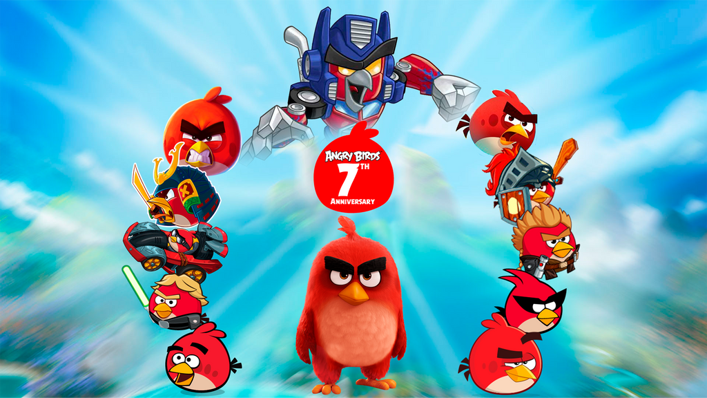 Angry Birds 7th Anniversary - Wallpaper by Alex-Bird