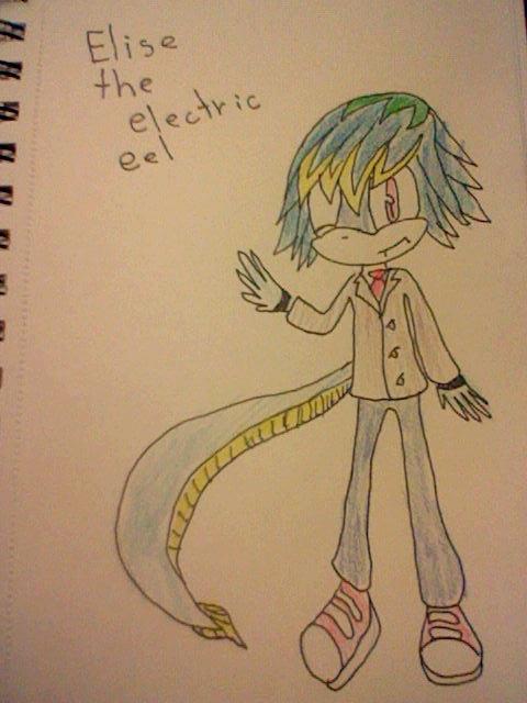 elise the electric eel by Haleythecat on deviantART