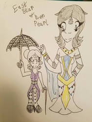 a diamond and her pearl
