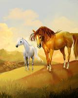 HorseIsle Workbook Cover by EponaDraws