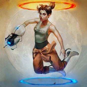 Portal 2 by EponaDraws
