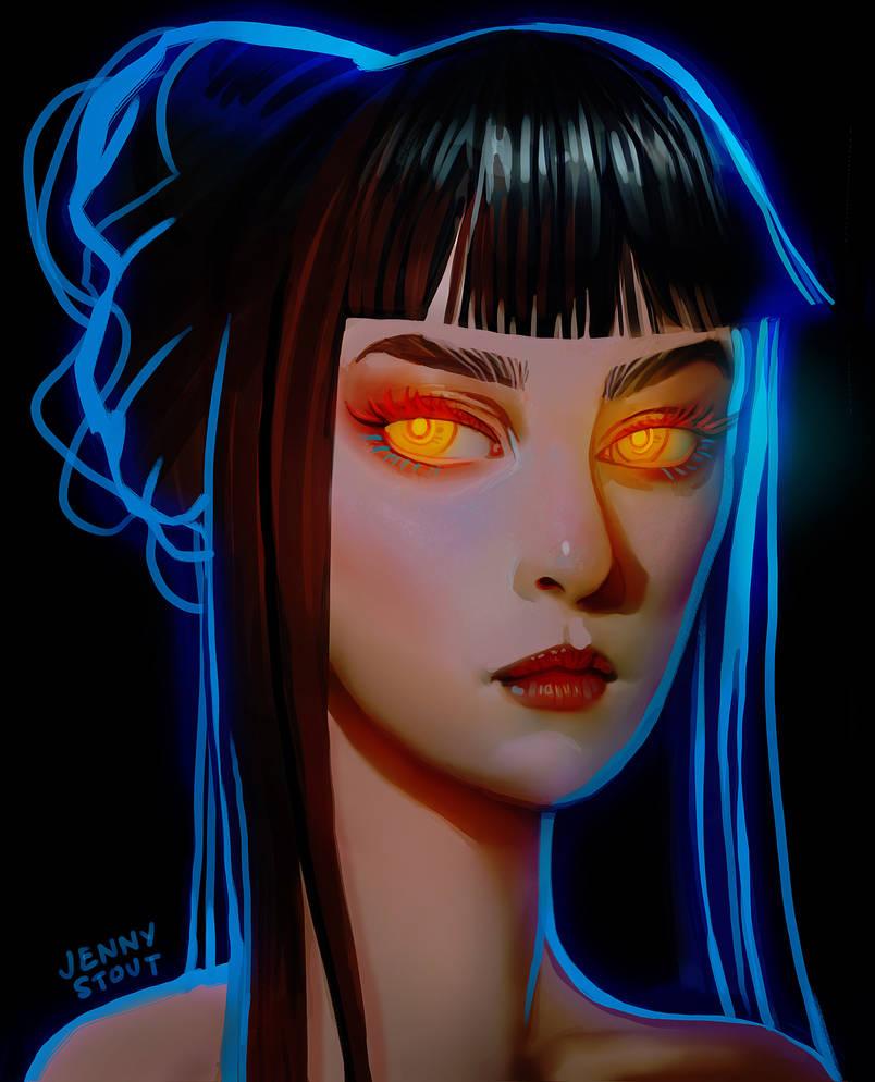 Glowy Eyes by EponaDraws