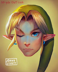 Link Portrait by EponaDraws