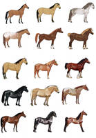 Some horses in HorseIsle by EponaDraws