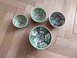 Set of italian medieval bowles
