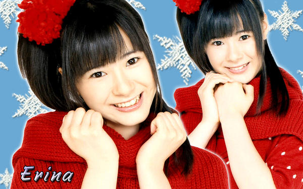 Wallpaper Erina Ikuta Red ver by RainboWxMikA
