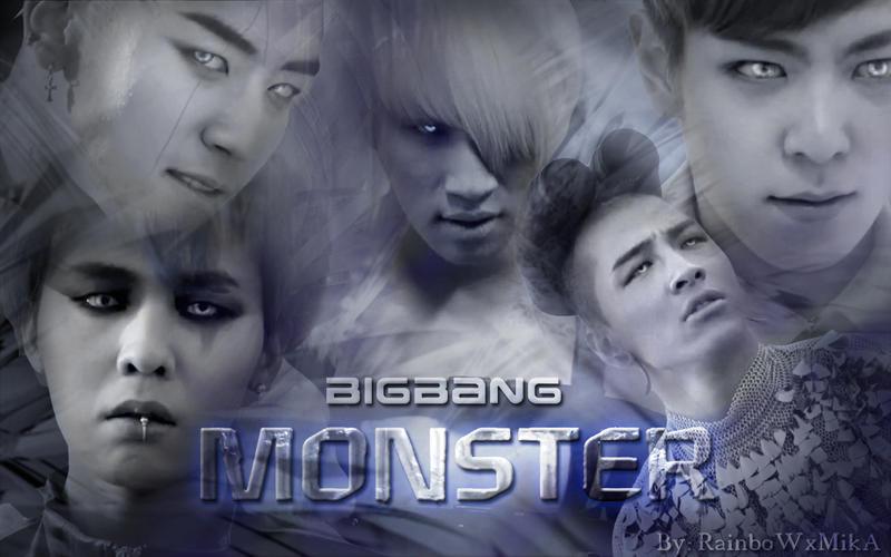 Wallpaper Big bang Monster ver by RainboWxMikA