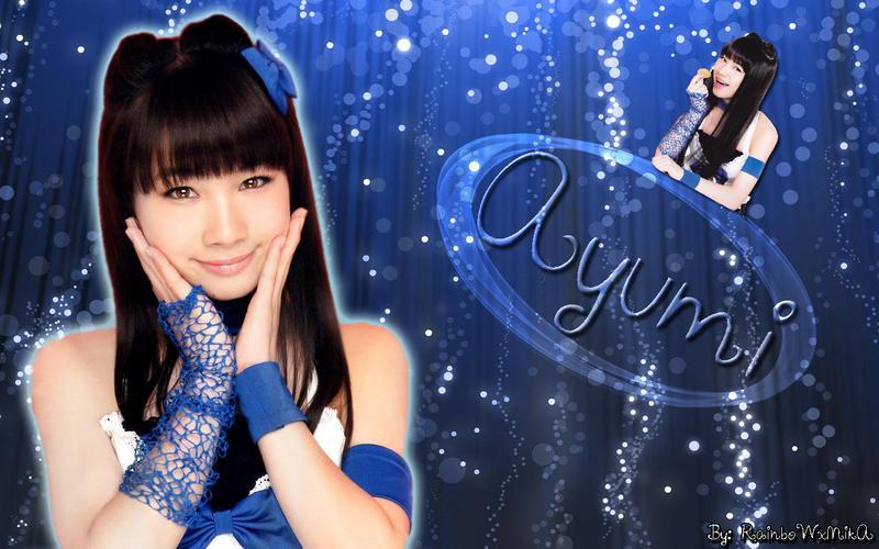 Wallpaper ayumi ishida blue ver by RainboWxMikA
