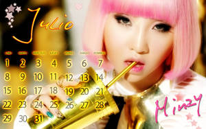 Wall Calendar july minzy by RainboWxMikA