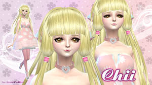 Wallpaper Chii (Chobits) Sims 4 version by RainboWxMikA