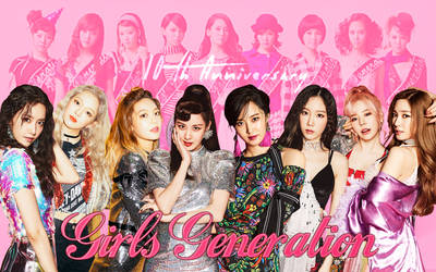 Wallpaper SNSD special 10th Anniversary