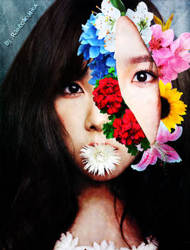 Taeyeon - Retrato Floral Surrealista (Colour ver.)