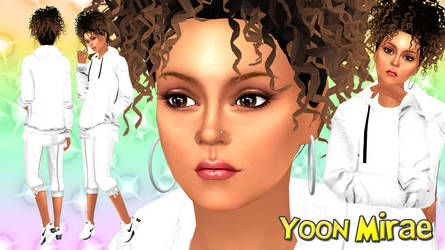 Wallpaper - Yoon Mirae (Jacome Baby ver.) Sims 4