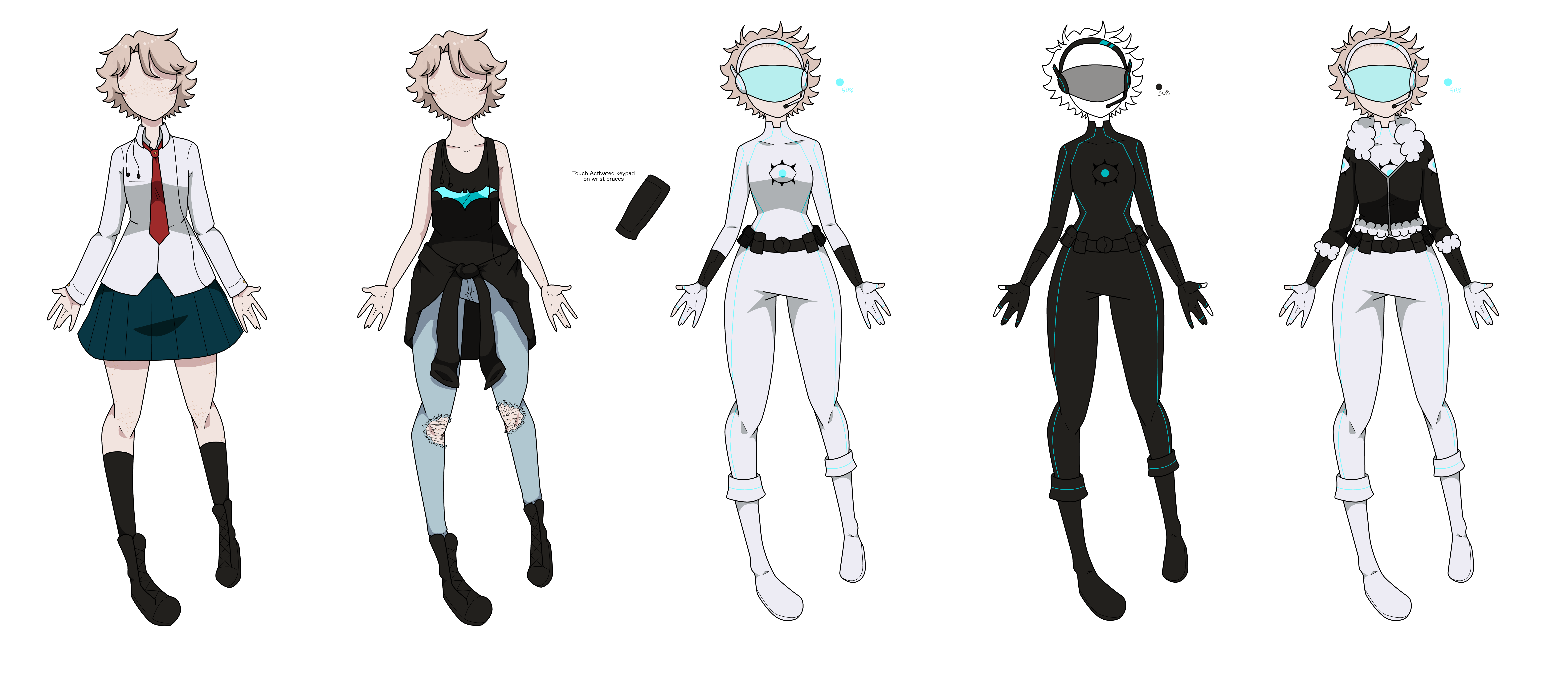 BNHA OC: Tomoe Outfits by AnnaleeTheCarver on DeviantArt