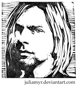 nirvana coloring pages   Kurt Cobain by JuliaMyr on DeviantArt