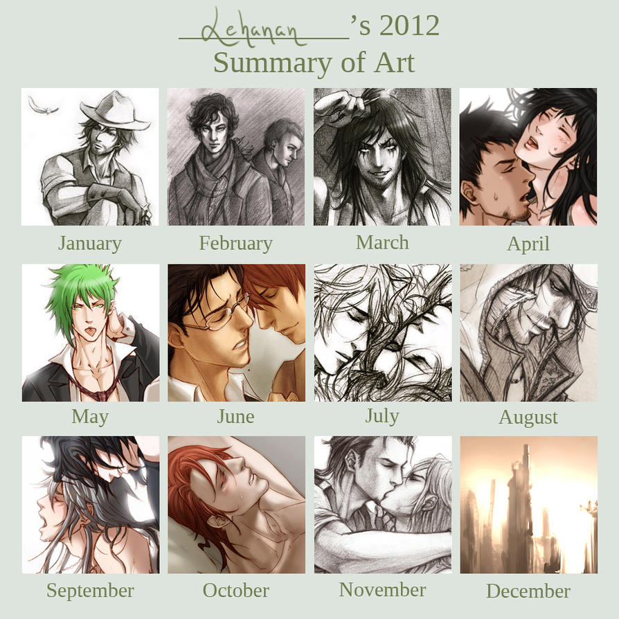 Lehanan - 2012 Art Summary by Lehanan
