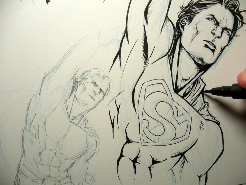 Superman doodles by Lehanan