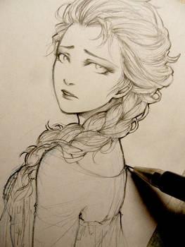 Frozen - Elsa doodle