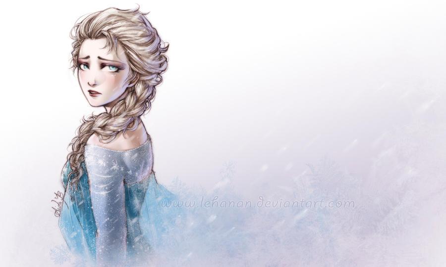 Frozen - Elsa Wallpaper by Lehanan