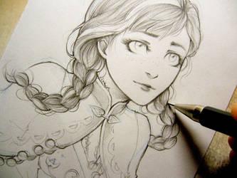 Frozen - Anna doodle by Lehanan