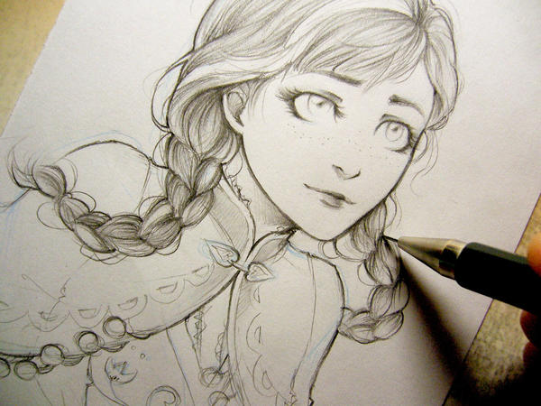 Frozen - Anna doodle by Lehanan on DeviantArt