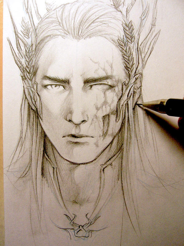 The Hobbit - Thranduil WIP by Lehanan