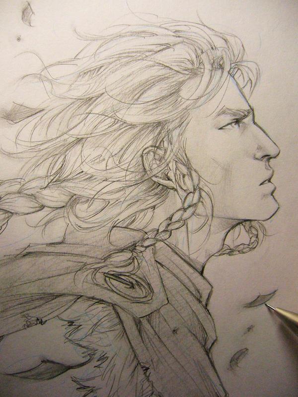 Arena - Ready for the Valhalla - Ragnarok sketch by Lehanan