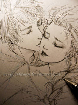 Jelsa - Frozen kiss - Sketch