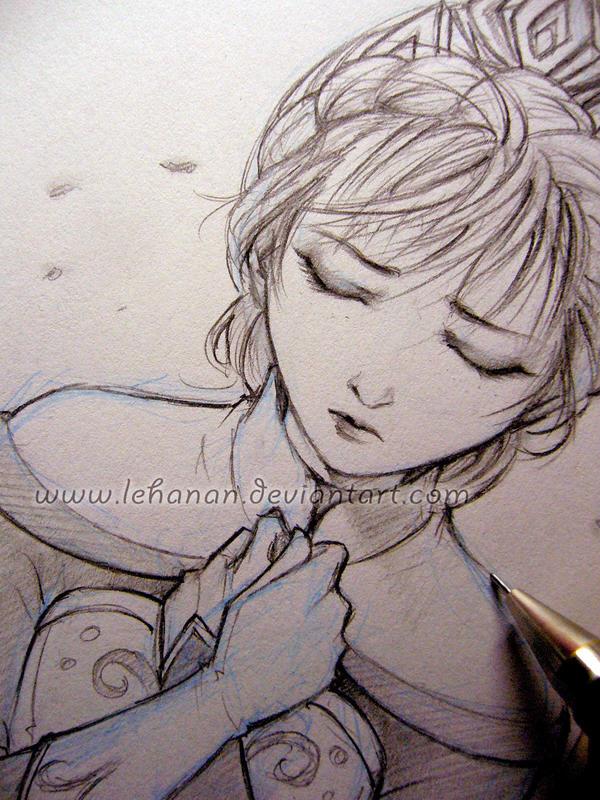 Frozen - Loneliness - Sketch by Lehanan