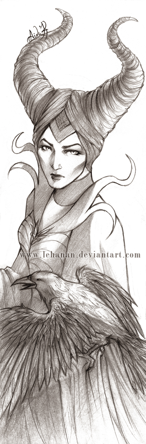 Maleficient sketch by Lehanan