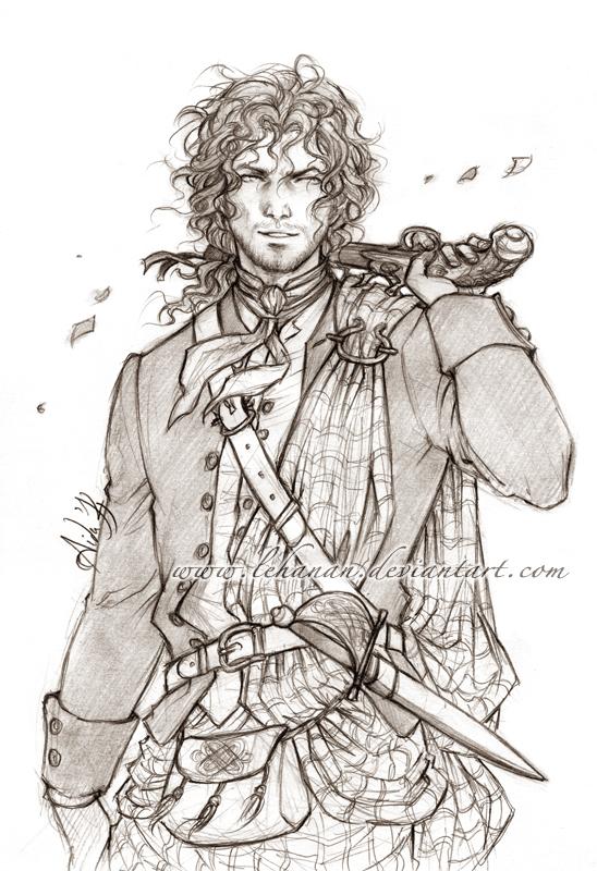 Outlander - The Highlander - Sketch by Lehanan