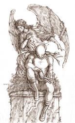 Marvel's Daredevil - A better Place - Lineart by Lehanan