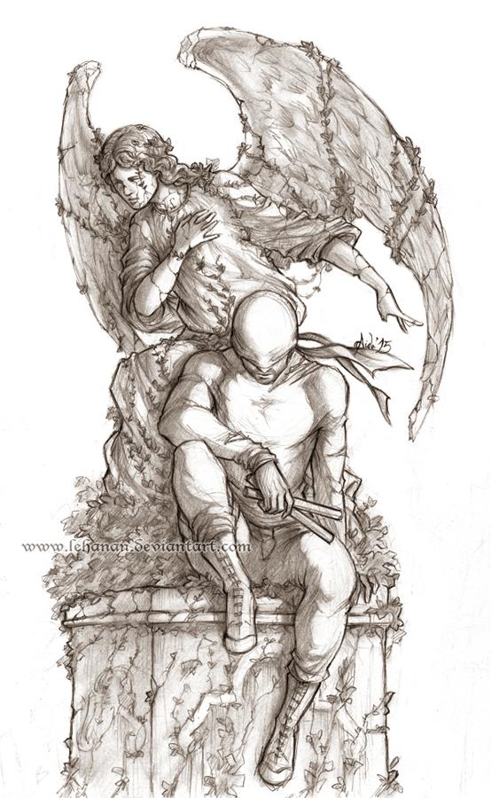 Line Art Marvel : Marvel s daredevil a better place lineart by lehanan