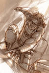 Winter Soldier - The Warrior in Pain - Sketch