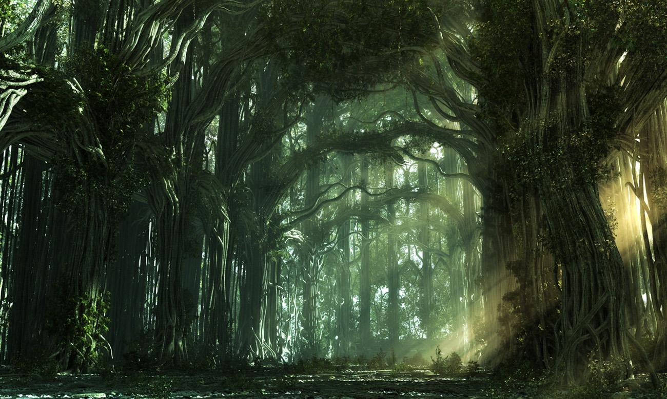 Гората Ниена (Страната на Светлината) The_Forest_church_2_by_weiweihua