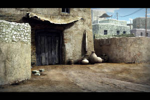 The Africa Village by weiweihua
