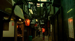 old street in shinjyuku by weiweihua