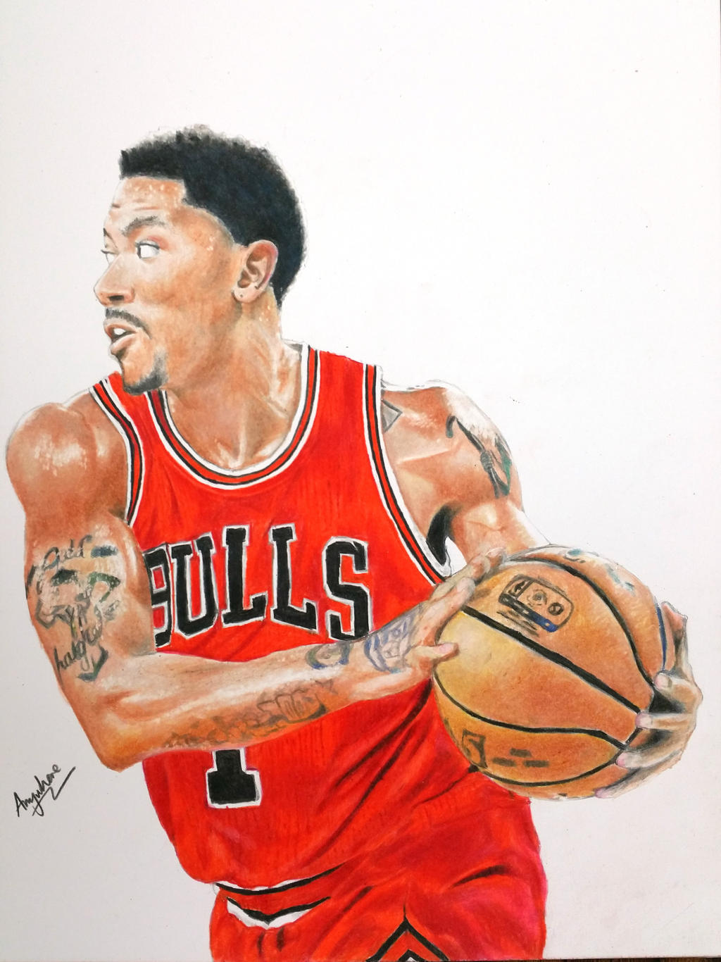 Derrick Rose Drawings