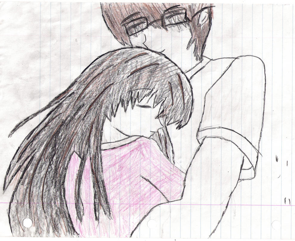 Anime couples in love drawings
