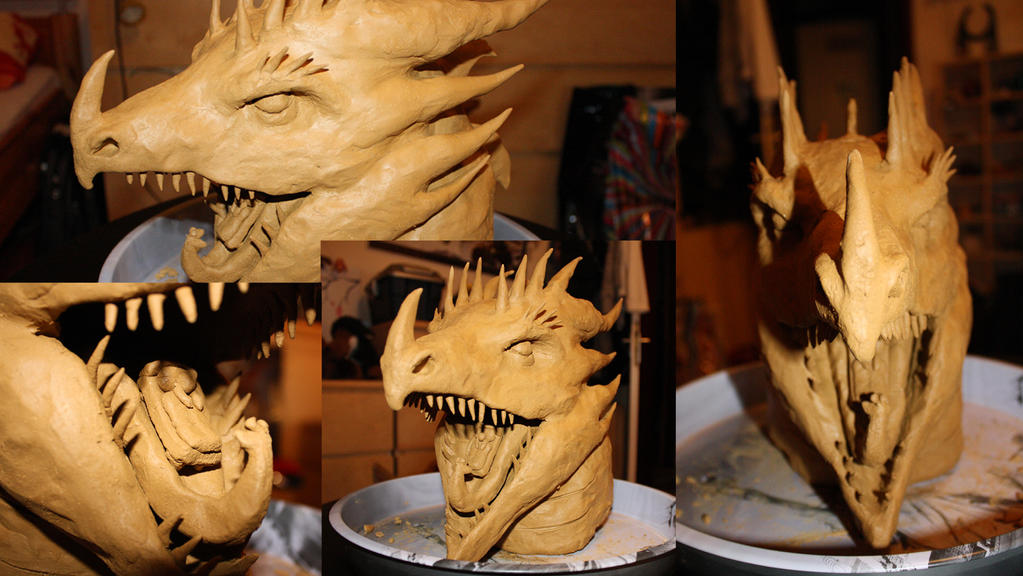 Dragon Head Sculpture by NathalieNova