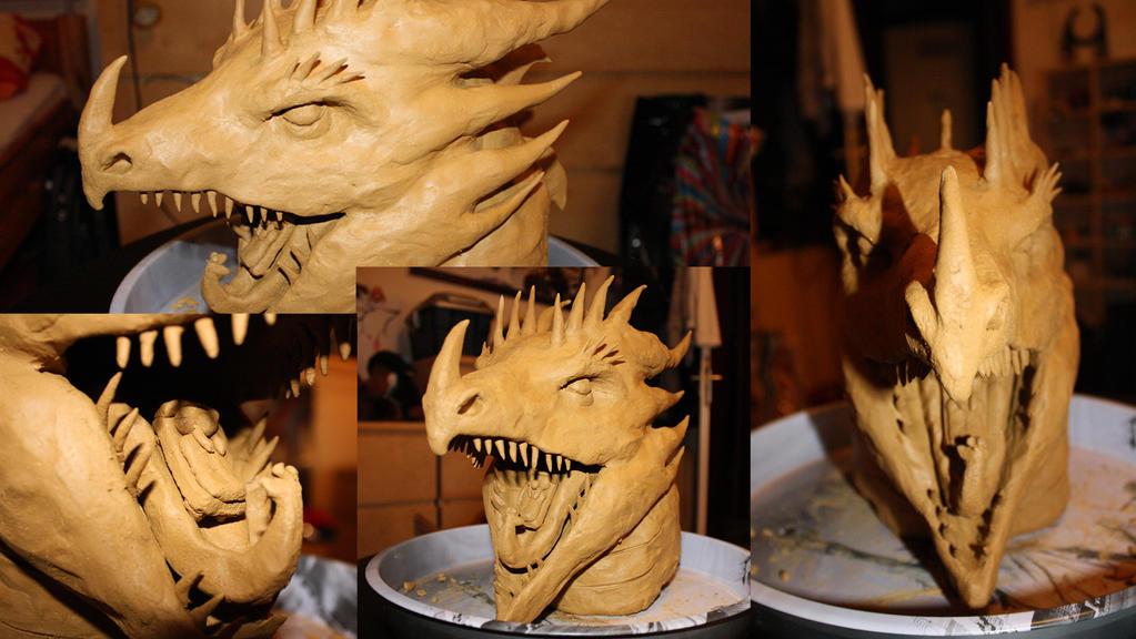 Dragon Head Sculpture by NathalieNova
