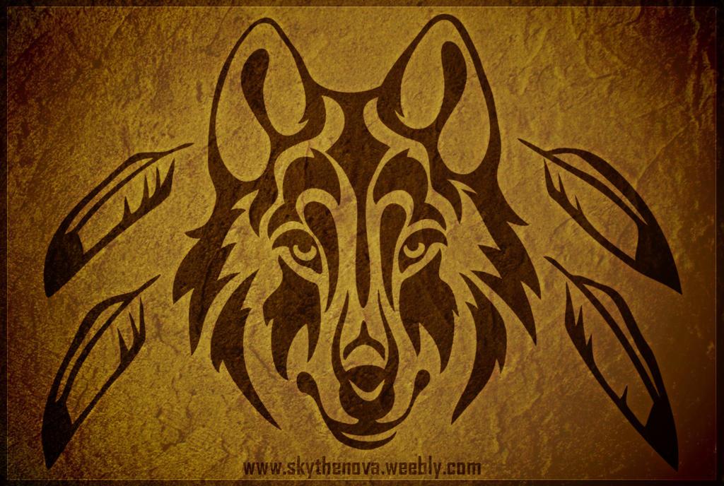 Totem Wolf Head Tribal by NathalieNova