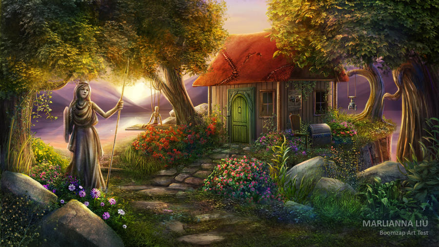 Spring Cottage By Mardenoir