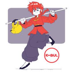 Ranma Sketch by kbulart