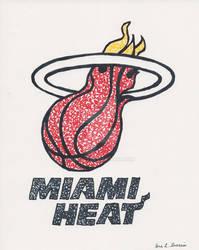 Miami Heat Scribble